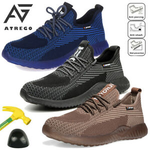 Us Men s Work Safety Shoes Steel Toe Boots Hiking Sport Indestructible Sneakers