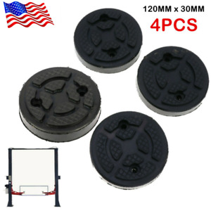 4 X 120mm Heavy Duty Round Rubber Car Auto Post Lift Arm Pads Disk Accessories