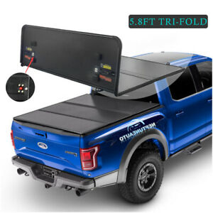 5 7ft Hard Bed Tonneau Cover For 17 19 Nissan Titan Tri Fold 14mm Thickness