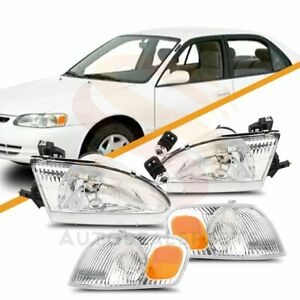 Fit For Toyota Corolla 1998 2000 Headlights Corner Lights Right Left Side