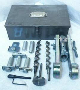 Schlage Lock Installation Kit Door Know Boring Jig Hardware Locksmith Case