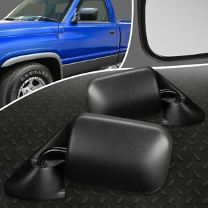For 94 97 Dodge Ram Truck 1500 Pair Oe Style Manual Side Rear View Door Mirror