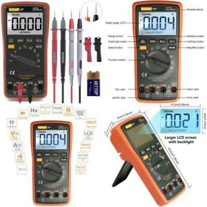 Auto Ranging Digital Multimeter Trms 6000 With Battery Alligator Clips Test Lead