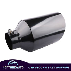 1x Stainless Steel Bolt On Diesel Exhaust Tip 4 Inlet 8 Outlet 15 Long Black