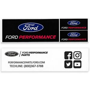 Ford Performance Sticker Set Parts Racing Decal Official Promo Giveaway