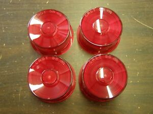 Nos Oem Ford 1958 Lincoln Continental Tail Light Lamp Lenses 1959 Edsel