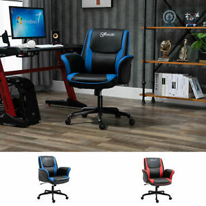 Vinsetto Breathable Faux Leather Computer Desk Chair W Adjustable Height