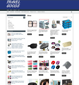 Travel Goods Website With 1 Years Hosting New Domain