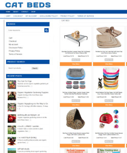 Fully Stocked Cat Beds Website With Domain Easy To Run 1 Years Hosting