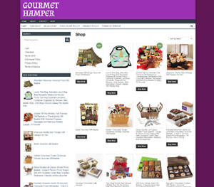 Gourmet Hamper Website With One Years Hosting Free Domain Fully Stocked
