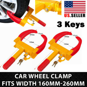 2 Pack Wheel Lock Clamp Boot Parking Tire Claw Trailer Car Truck Anti Theft