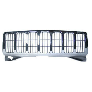 Replacement Chrome Grille For 2005 2006 2007 Jeep Grand Cherokee