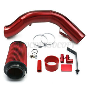 Red Cold Air Intake Tube Fit Ford F 250 F 350 Excursion 6 0l Diesel Turbo 03 07