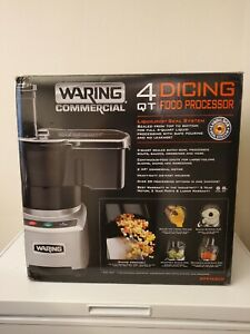 Waring Commercial Wfp16scd 4qt Batch Bowl Continuous Feed Food Processor