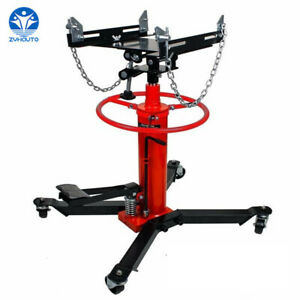 1100 Lbs 2 Stages Hydraulic Transmission Jack With 360 Swivel Wheels Lift Hoist