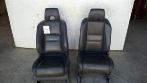 06 08 Pilot Black Leather Electric Power Front Bucket Seats 7029868