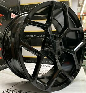 20 Inch Mrr 228 Camaro Black Wheels Concave 20x10 20x11 ss Ls Stagerred