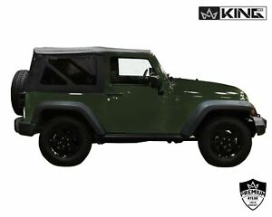 King 4wd Prem Replacement Soft Top W Tinted Windows Jeep Wrangler Jk 2dr 07 09