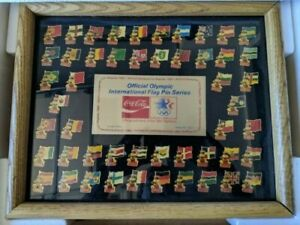 Coca Cola 1984 Limited Edition Olympic Pin set - All Nations *RARE*