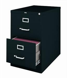 Hirsh 26 5 inch Deep 2 drawer Legal size Commercial Vertical Black N a
