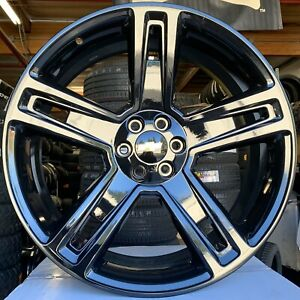 26 Chevy Silverado Tahoe Gloss Black Wheels Tires Rims Gmc Sierra Yukon Tpms