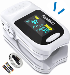 Pulse Oximeter Fingertip Renpho Accurate Reading Pediatric And Oxygen Monitor