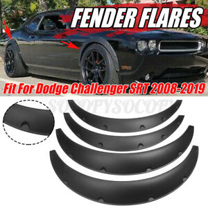 4pcs 3 5 Wheel Fender Flares Wide Body Kit For Dodge Challenger Srt