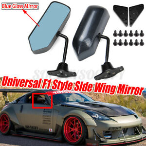 2x F1 Racing Style Carbon Fiber Universal Car Rear View Side Door Wing Mirror