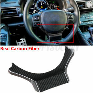 Real Carbon Fiber Steering Wheel Trim Cover For Lexus Nx200t 300h Rc 2014 2017