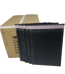 Pack 95 In Box 10 X 12 Inches Outside Large Black Poly Bubble Mailers Envelopes