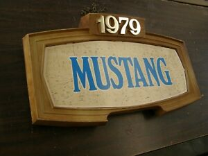 Oem Ford 1979 Mustang Showroom Display Picture Double Sided