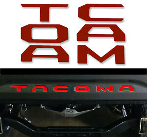 Red Tailgate Insert Letters Decal Vinyl Stickers For Toyota Tacoma 2016 2020