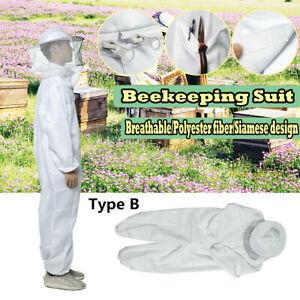 Bee Keeper Suit Beekeeping Veil Jacket Protection Outfit Hat Sting Proof M L Xl