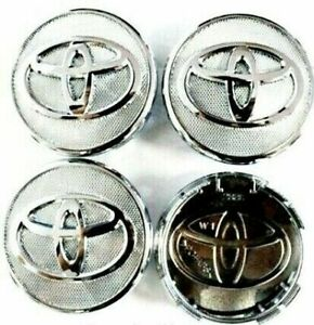 4x 57mm Toyota Chrome Wheel Center Caps Fits Toyota