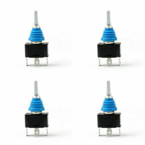 4pcs Waterproof Toggle Switch 12mm On off on 3p Spdt Latching 250v Sci For Car