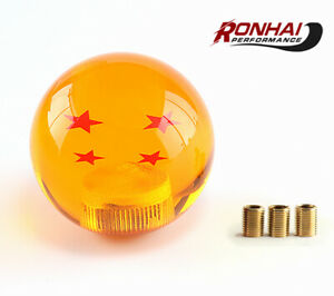 Universal Cars Shift Knob With Adapter Manual Stick Dragon Ball Yellow 4 Stars