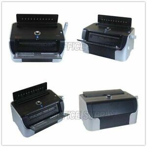 All Steel 110v Electric Metal Spiral Coil Punch Binding Machine New
