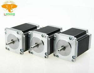 Us Ship 3pcs Nema23 Stepper Motor 270oz in 1 9n m 4leads Single Shaft 23hs8430