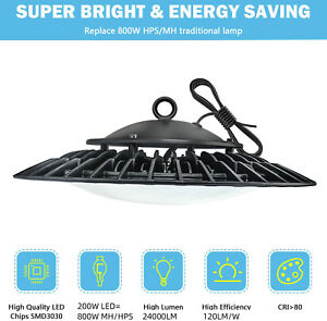 Ufo High Bay Led Shop Light 200w 150watt For Commercial Warehouse Garage Factory
