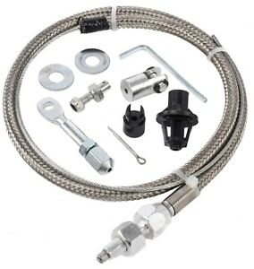 Jegs 157018 Stainless Steel Throttle Cable 24 Universal
