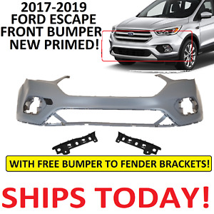 2017 2018 2019 Ford Escape Front Bumper Cover New Primed With Brackets