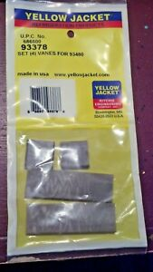 Vacuum Pump Vanes 8 Cfm Yellow Jacket Part 93378 Models 93480 And 93580