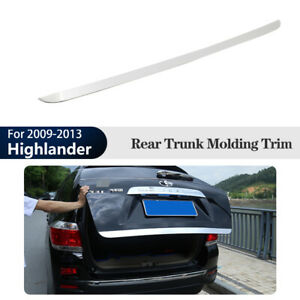 Rear Lower Tailgate Trunk Moulding Cover Trim For Toyota Highlander 2009 2013