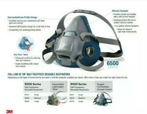 3m Half Face Respirator With Filers medium
