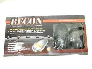 Recon 264146bk Black Smoke Led Cab Roof Lights For 2003 2015 Dodge Ram 2500 3500