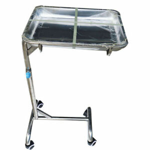 Instrument Hospital Stand Tray Patient Room Double Post New