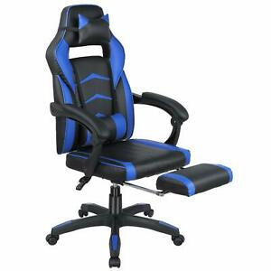 Blue Game Office Chair High Back Computer Racing Gaming Chair Ergonomic Chair