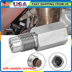 Oxygen O2 Sensor Spacer Adapter Cel Eliminator Mini Cat W Catalytic Converter