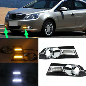 2xfor Buick Verano Excelle Gt 2012 15 White Yellow Led Daytime Running Fog Light