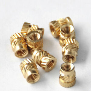 100pc M3 Thread Knurled Brass Heat Resistant Insert Embedment Nut For 3d Printer
